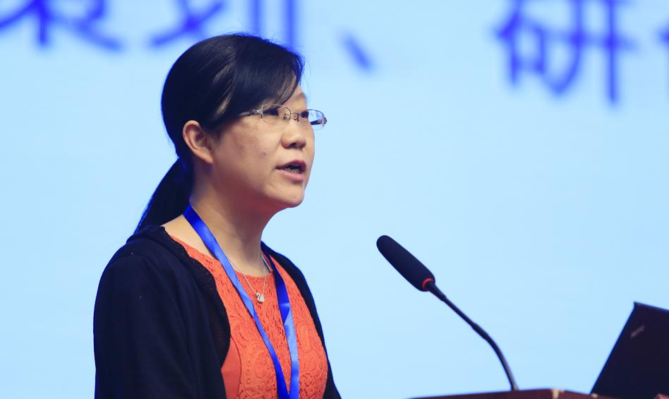 中国科学院遥感与数字地球研究所所务助理闫冬梅作主题演讲