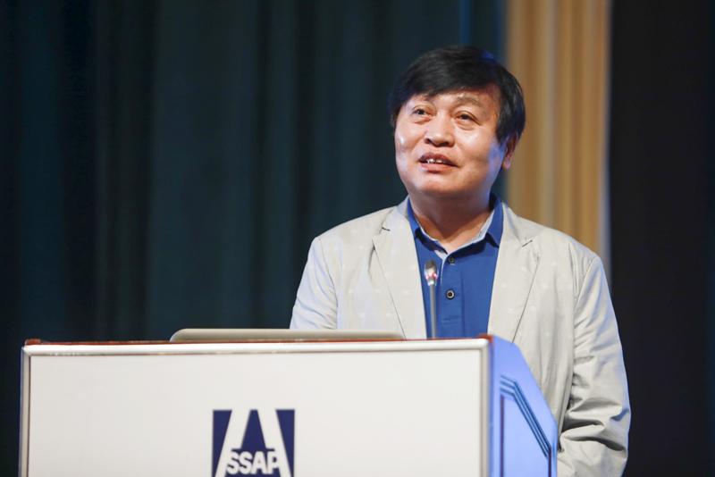 中国社会科学院大学教授,中国社会科学院研究生院原院长黄晓勇作主题演讲
