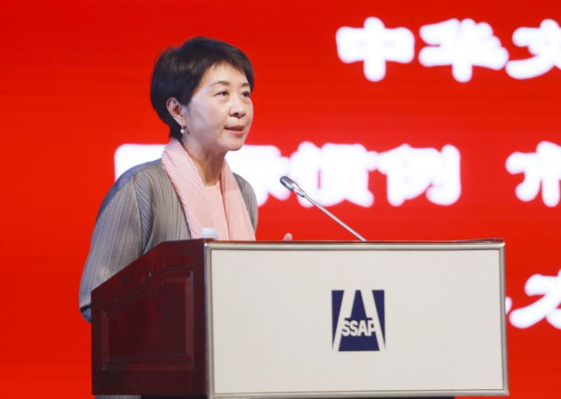 北京第二外国语学院国家文化发展国际战略研究院常务副院长李嘉珊作主题演讲