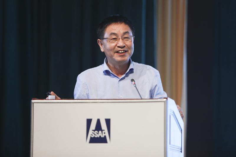 北京旅游学会会长安金明作主题演讲